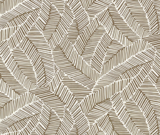 5007532 Abstract Leaf – Mocha – Schumacher Wallpaper