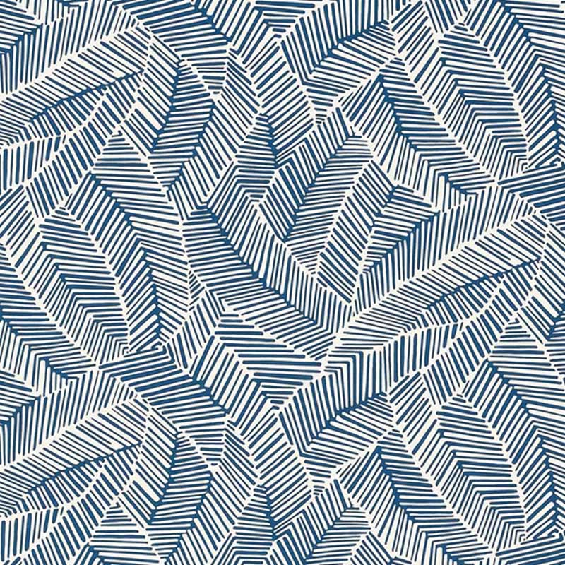 5007533 Abstract Leaf - Navy - Schumacher Wallpaper