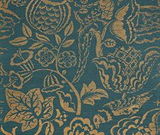 5008264 Uccello Sisal – Gold On Peacock – Schumacher