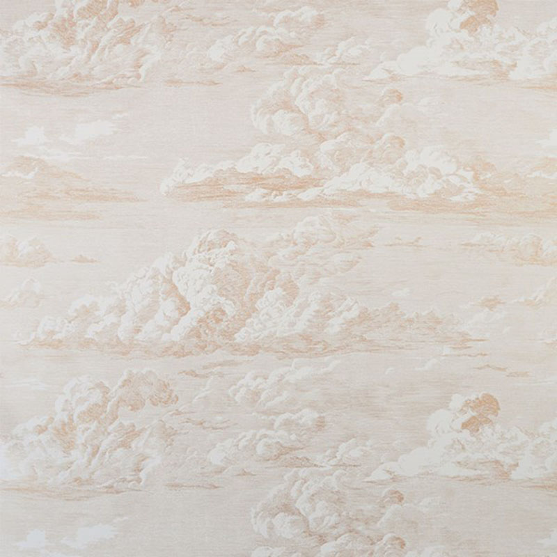 5009130 Cloud Toile - Gold - Schumacher Wallpaper