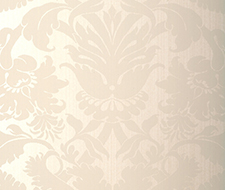 529190 Fiorella Damask – Pearl – Schumacher Wallpaper