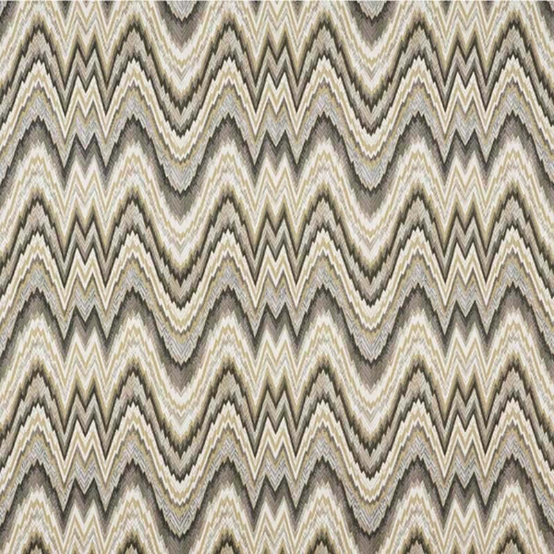 68941 Valkyrie Flame Stitch - Shale - Schumacher Fabric