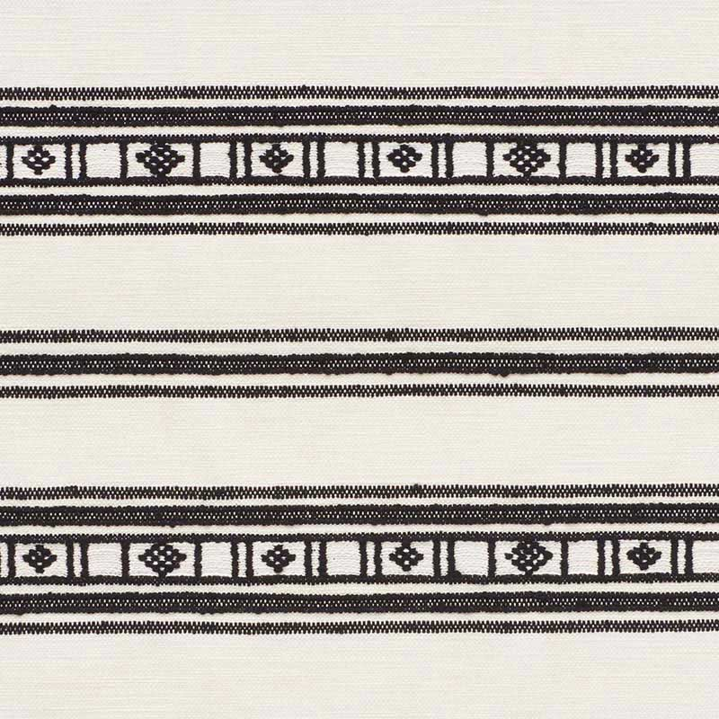 74481 Buena Vista - Black - Schumacher Fabric
