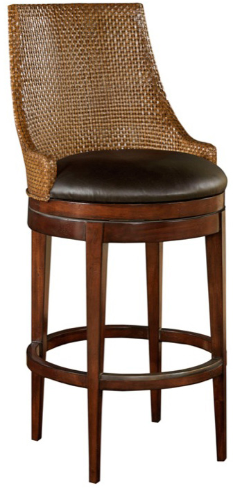 Woven Leather Back Counter Stool Louis J Solomon L A