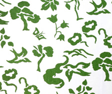 4001-07 Early Spring Grass on White – Victoria Hagan Fabric