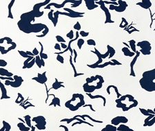 4001-04 Early Spring Indigo on White – Victoria Hagan Fabric
