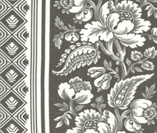 4008-06 Lovely Louise Charcoal – Victoria Hagan Fabric