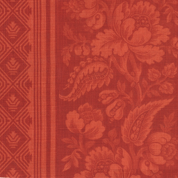 4008-04 Lovely Louise Coral Red - Victoria Hagan Fabric