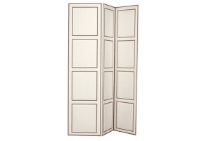 Carroll Three Panel Folding Screen